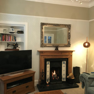 Fireplace installation for a besotted customer.