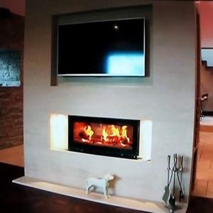 Fireplace design & installation of wood burning cassette